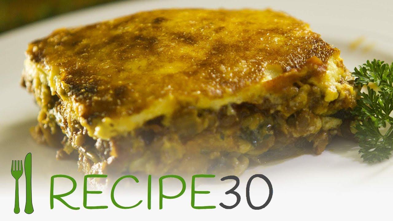 Vegetarian Moussaka Recipe Youtube