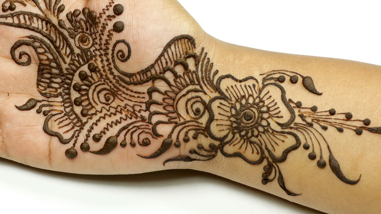 Mehndi design 2017 for small hands - Arabic Floral Mehndi Design For Hands Best Mehndi Design For Young Girls Me4