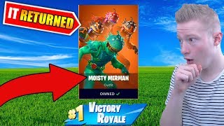 After a YEAR the MOISTY MERMAN skin returned in FORTNITE!!