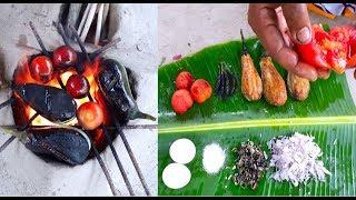 জিভে জল আনার মত পোড়া বেগুন-টমেটো ও ডিম দিয়ে ভর্তা || Tastefully Pora Begun-Tomato Vorta Recipe