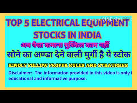 TOP 5 ELECTRICAL EQUIPMENT Stocks of Indian Stock Market