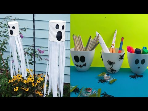 TOP 5 super easy school supplies for halloween   school crafts I super easy best out of waste crafts