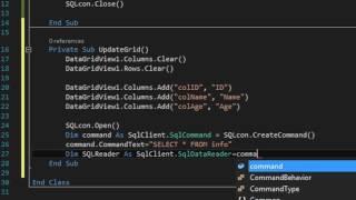 VB 2015 (SELECT - UPDATE - INSERT) Using SQL Server