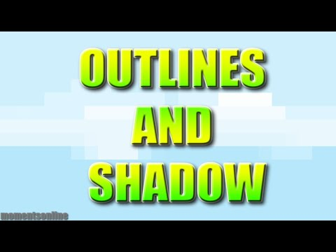 HOW TO ADD OUTLINE AND SHADOW EFFECTS IN GDEVELOP 5