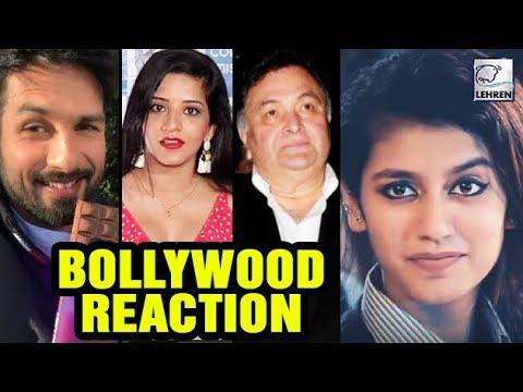 Bollywood REACTS On Internet Sensation Priya Prakash Varrier | LehrenTV