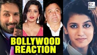 Bollywood REACTS On Internet Sensation Priya Prakash Varrier | LehrenTV