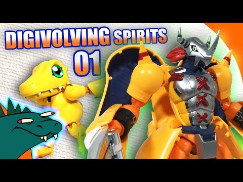 Digivolving Spirits 01 WarGreymon /  Agumon Digimon Review