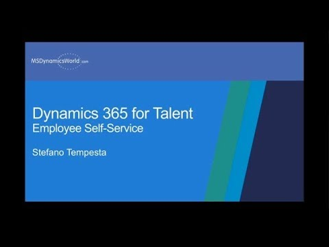 Employee self-service and professional development with Dynamics 365 for Talent