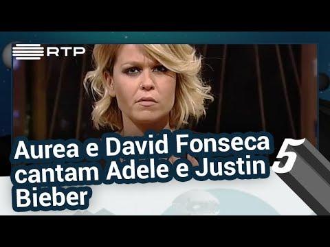 Aurea e David Fonseca cantam Adele e Justin Bieber - 5 Para a Meia-Noite