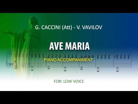 Ave Maria / Karaoke piano / Caccini (Att) -Vladimir Vavilov  / Low voice