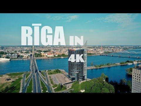 Ar dronu virs Rīgas / Riga in 4K (DJI Mavic Pro)