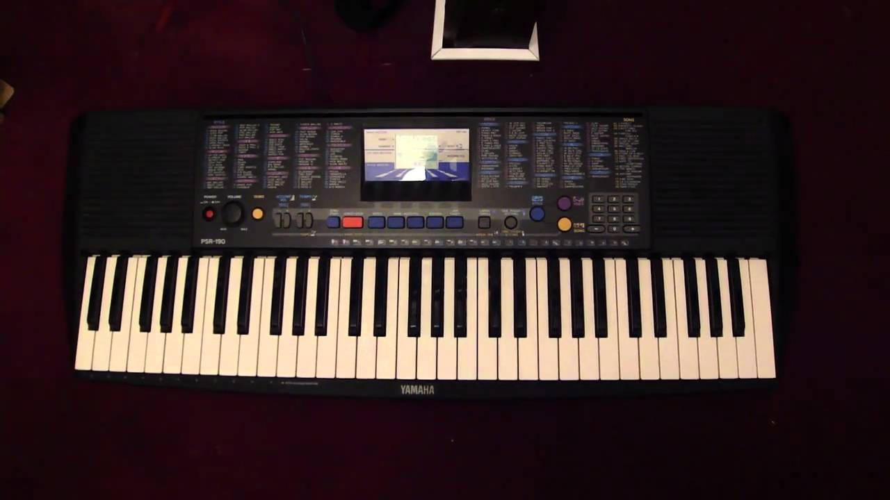 yamaha psr 190 youtube