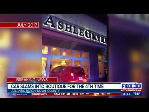 Car crashes into Atlantic Beach boutique for fourth time