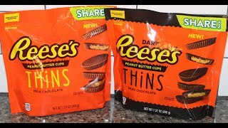 Reese's Peanut Butter Cups Thins: Milk Chocolate & Dark Chocolate Review