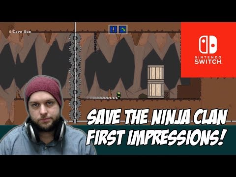 A Super Meat Boy Clone, But Is It Good? - Save The Ninja Clan (Nintendo Switch) [First Impressions]