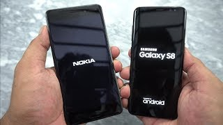Galaxy S8 Vs Nokia 6 Speed Test [Urdu/Hindi]
