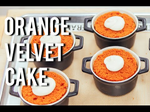 How To Make ORANGE VELVET CAKE For the days you dont want Red