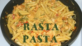 How To Make Rasta Pasta Chicken Alfredo In 6 Minutes, Cook A Quick Meal With The Renegade Don.