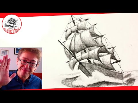 How to Draw an Old Ship with Pencil Drawing Techniques