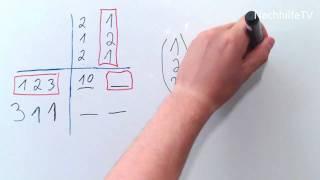 Matrizenmultiplikation nach dem Falk-Schema