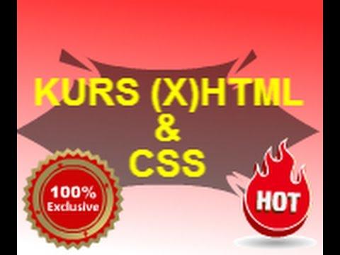 KURS HTML - Lekcja 1 - XHTML i CSS - Wprowadzenie