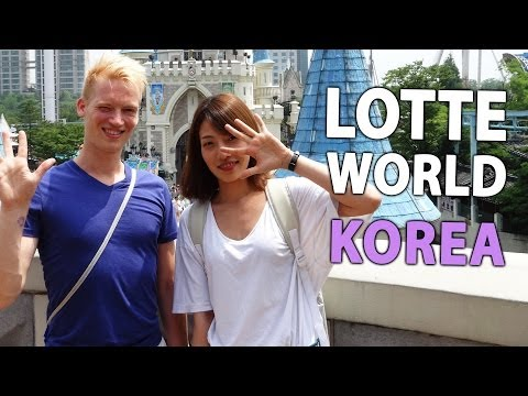 Lotte World in Seoul, Korea (biggest indoor theme park in the world)