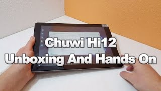Chuwi Hi12 Unboxing. $207 Tablet With The Surface Pro 3 Screen