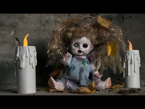 DIY - Halloween crafts - zombie doll & candle
