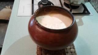 молоко топленое дома