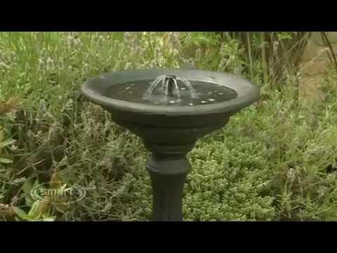 smart garden winchester solar water fountain bird bath - Solar Water Fountain