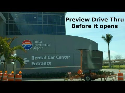 Drive Through Tampa's New Rent-a-Car Center