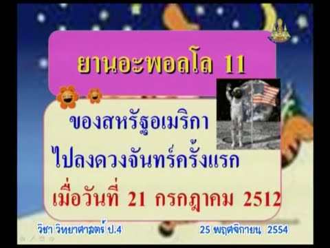 136 P4sci 541125 D วิทยาศาสตร์ป 4 ดวงจันทร์  ดาวบริวารของโลก  ประโยชน์ของดวงจันทร์