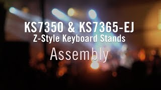 How to Assemble | KS7350 & KS7365-EJ Z-Style Keyboard Stands
