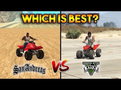 GTA 5 BLAZER VS GTA SAN ANDREAS QUAD BIKE : WHICH IS BEST?