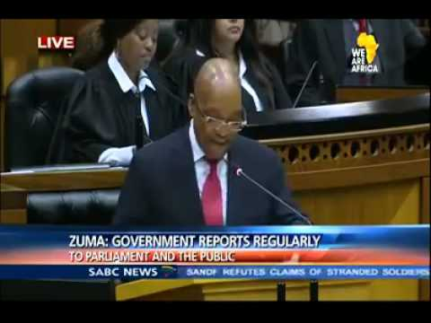President Jacob Zuma. PROBLEMATISING.