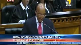 President Jacob Zuma. PROBLEMATISING.