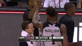 Chris McCullough Hits the Deep Three to End the First Half!