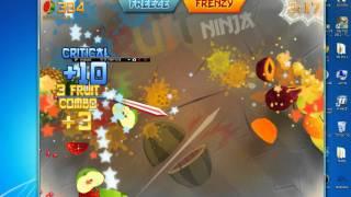 Gameplay  fruit ninja  PC