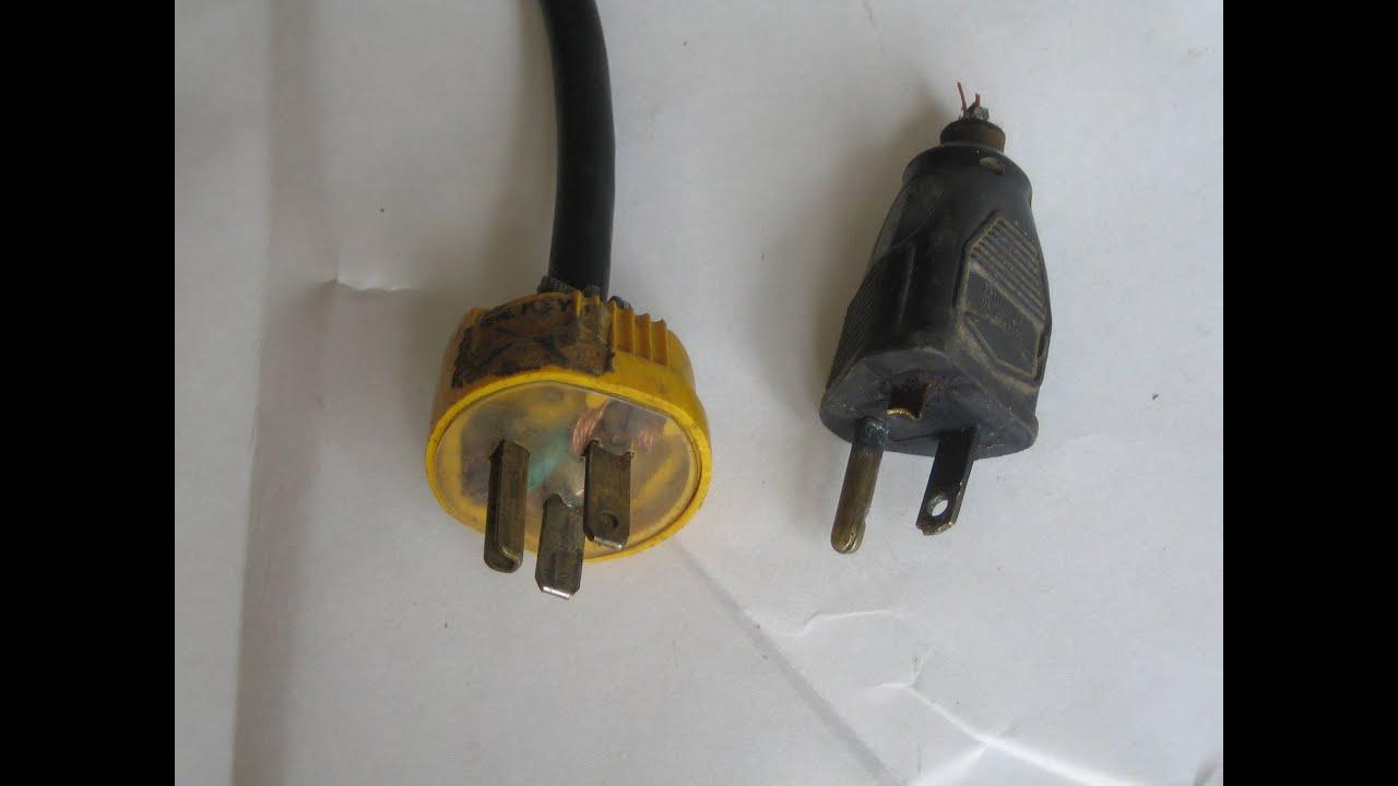 Craftsman compressor electrical cord repair plug