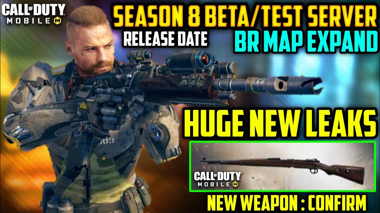 Season 8 Beta Test Server Call Of Duty Mobile Cod Mobile Leaks Season 8 Cod Mobile Codm S8 Youtube