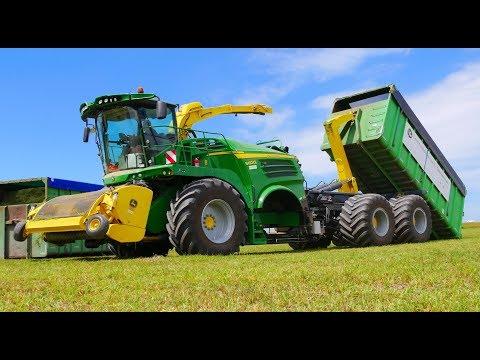 Lucerne / Alfalfa Silage harvesting | Special John Deere 8600i Container Carrier | Timmerman