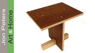 Learn how to build a model for a stool woodworking project. Models are great to build before starting on real woodworking projects.