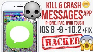 This will Kill & Crash any iPhone Messages App IOS 8 - 9 - 10.2