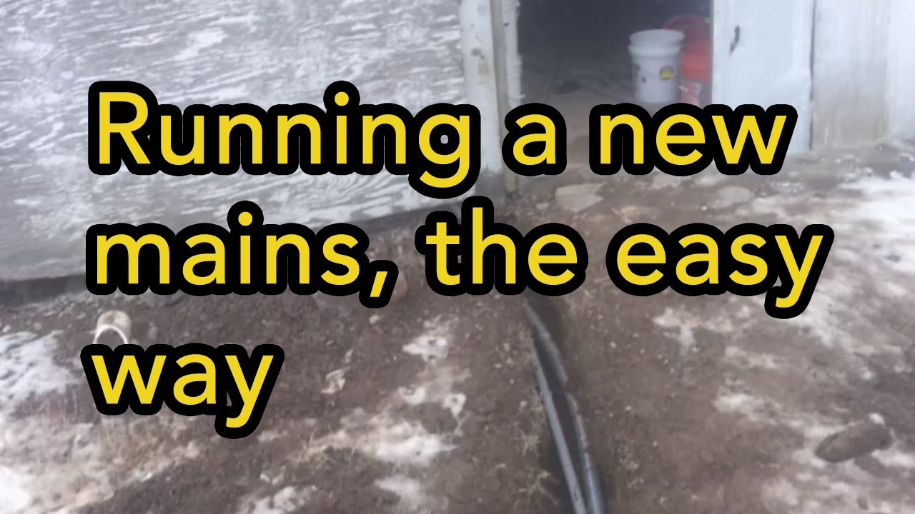 Running a new mains to your outbuilding - YouTube