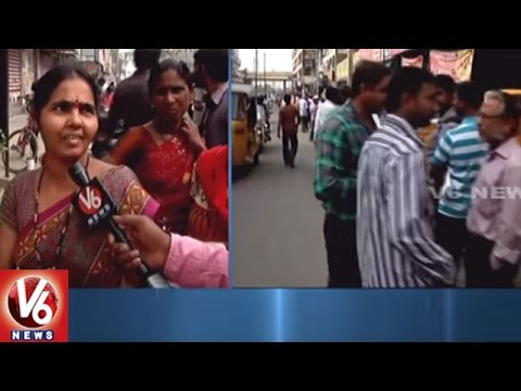 Currency Ban   People Throng Banks For Deposit/Exchange 500 & 1000 Notes   Hyderabad   V6 News