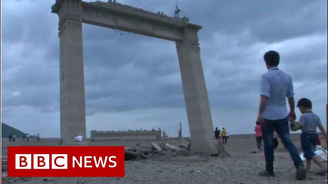 BBC News:Drought reveals sunken Thai temple - BBC News
