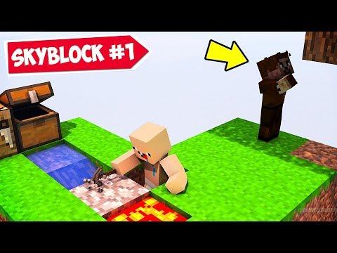 MİNECRAFT ama SKYBLOCK 😱 - Minecraft