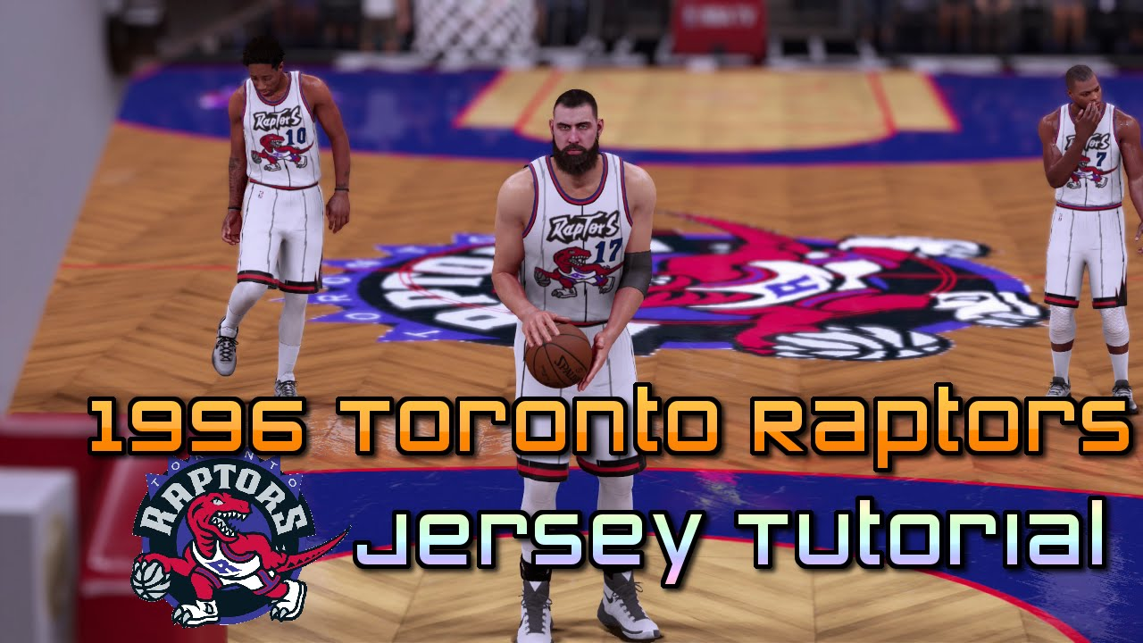c1b296bea22 NBA 2K16  1996 Toronto Raptors Jerseys and Court Tutorial (with images) -  YouTube