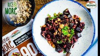 Sałatka z pieczonym burakiem i Rice&MORE 90sek. Włoski orkisz, soczewica i brązowy ryż