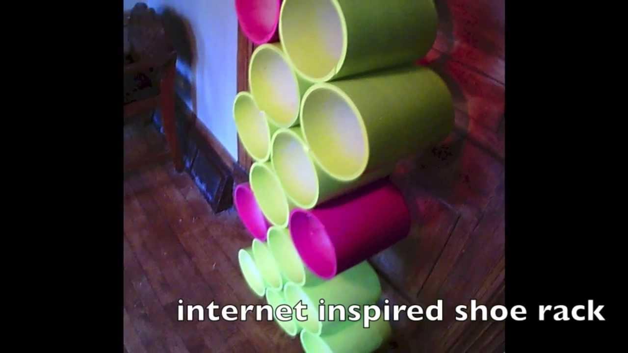 pvc shoe rack youtube. Black Bedroom Furniture Sets. Home Design Ideas